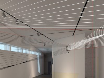 Raumzeichnung EXISTENZ im Felix-Nussbaum-Haus